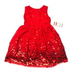 NWT Cat & Jack Wowzer Red Sequin Tulle Party Dress